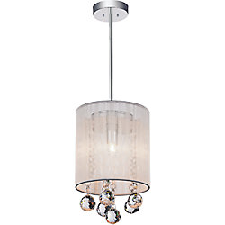CWI Lighting Shower 6 inch 1 Light Pendant with Chrome Finish