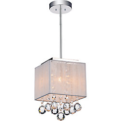 Shower 6 inch 1 Light Mini Pendant with Chrome Finish