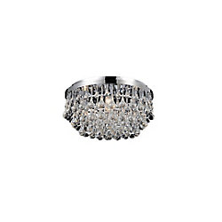 CWI Lighting Atlantic 18-inch 6 Light Flush Mount with Chrome Finish