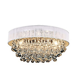 Atlantic 18 inch 6 Light Flush Mount with Chrome Finish