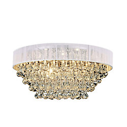 Atlantic 22 inch 8 Light Flush Mount with Chrome Finish