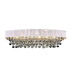 Atlantic 30 inch 6 Light Flush Mount with Chrome Finish