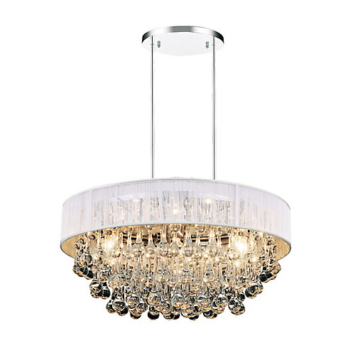Atlantic 18 inch 6 Light Chandelier with Chrome Finish