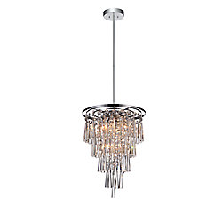 Blissful 14.8 inch 6 Light Mini Pendant with Chrome Finish