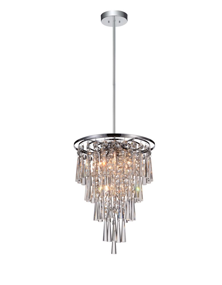 CWI Lighting Blissful 14.8 inch 6 Light Mini Pendant with Chrome Finish