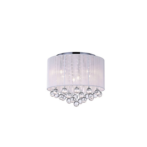 Water Drop 16.5 inch 6 Light Flush Mount with Chrome Finish