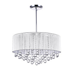 Water Drop 24.6 inch 9 Light Chandelier with Chrome Finish