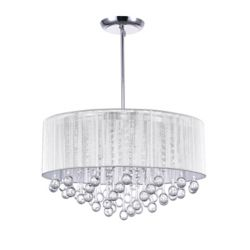 CWI Lighting Water Drop 22-inch 9 Light Chandelier with Chrome Finish
