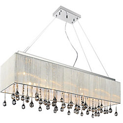 Water Drop 32 inch 10 Light Chandelier with Chrome Finish