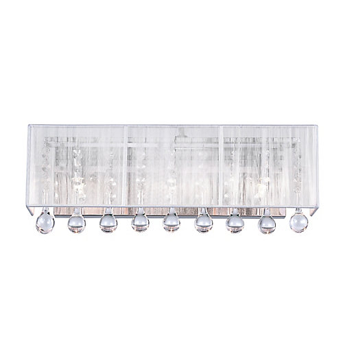 Water Drop 18-inch 3 Light Wall Sconce with Chrome Finish