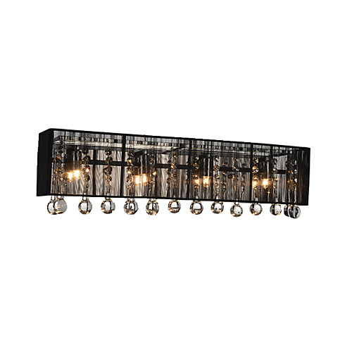 Water Drop 24-inch Four Light Wall Sconce with Chrome Finish
