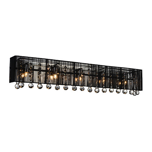 Water Drop 32-inch 5 Light Wall Sconce with Chrome Finish