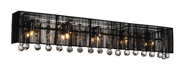 CWI Lighting Water Drop 32-inch 5 Light Wall Sconce with Chrome Finish