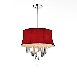 CWI Lighting Audrey 16 inch Four Light Chandelier with Chrome Finish