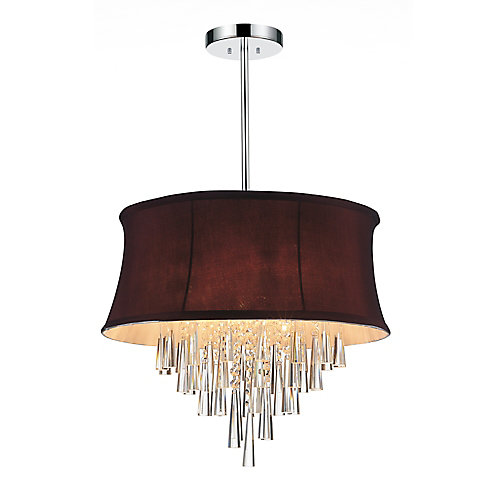 Audrey 19-inch 6 Light Chandelier with Chrome Finish