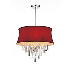 CWI Lighting Audrey 19 inch Six Light Chandelier with Chrome Finish