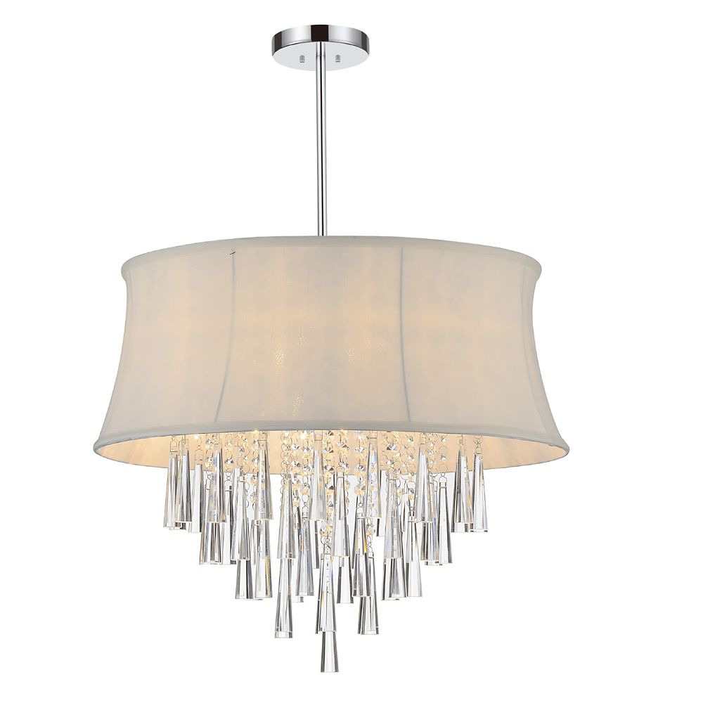 CWI Lighting Audrey 19 inch 6 Light Chandelier with Chrome Finish
