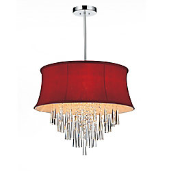 CWI Lighting Audrey 22 inch Eight Light Chandelier with Chrome Finish