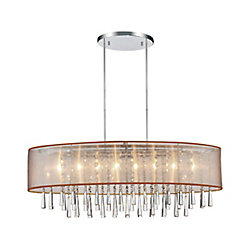 CWI Lighting Renee 36-inch Eight Light Chandelier with Chrome Finish