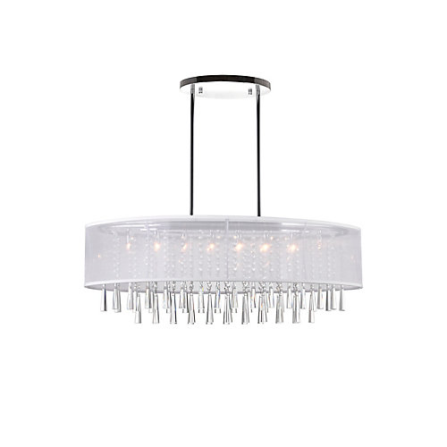 Renee 36 inches 8 Light Chandelier with Chrome Finish