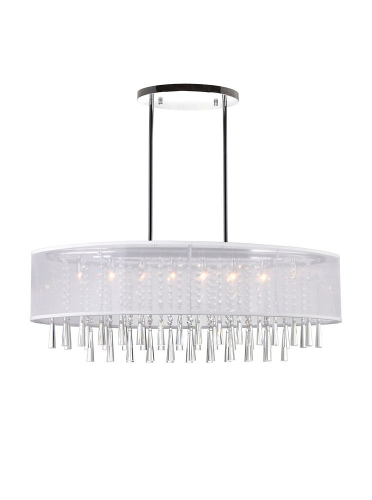 CWI Lighting Renee 36 inches 8 Light Chandelier with Chrome Finish