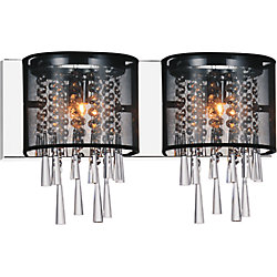 Renee 19-inch 2 Light Wall Sconce with Chrome Finish
