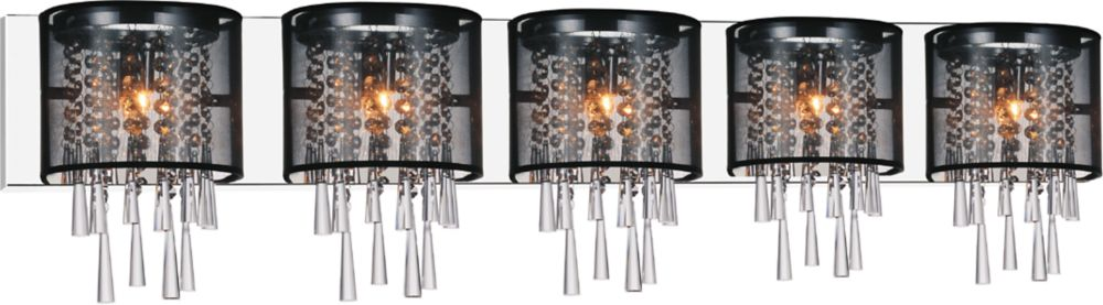 CWI Lighting Renee 49 inch Five Light Wall Sconce with Chrome Finish