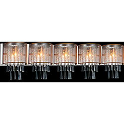 Renee 49 inch 5 Light Sconce with Chrome Finish