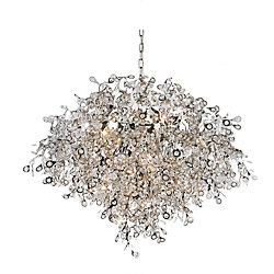 Flurry 32 inch 17 Light Chandelier with Chrome Finish