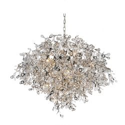 CWI Lighting Flurry 32 inch 17 Light Chandelier with Chrome Finish