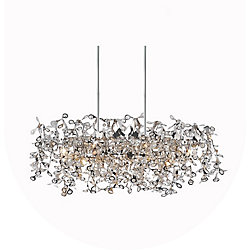 Flurry 37 inch 7 Light Chandelier with Chrome Finish