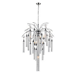 Chloe 28 inch 7 Light Chandelier with Chrome Finish
