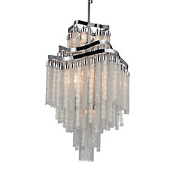 Storm 19 inch 10 Light Chandelier with Chrome Finish