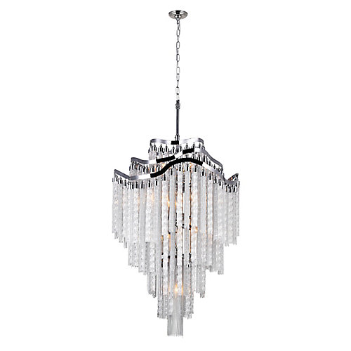 Storm 26 inch 14 Light Chandelier with Chrome Finish