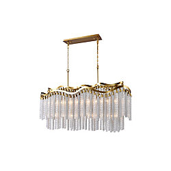Storm 47 inch 12 Light Chandelier with Gold Finish