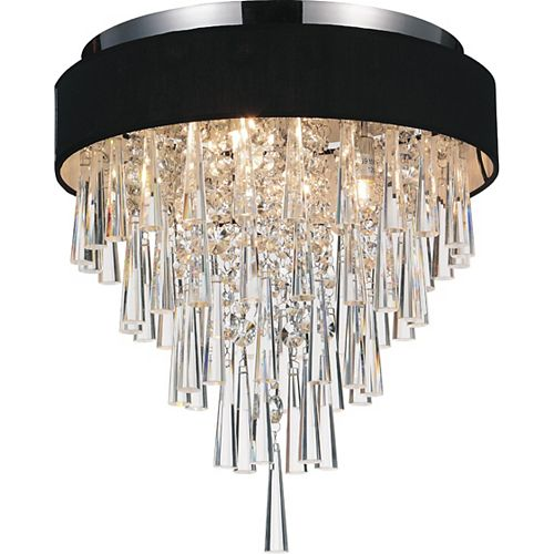 Franca 16 inch Four Light Flush Mount with Chrome Finish