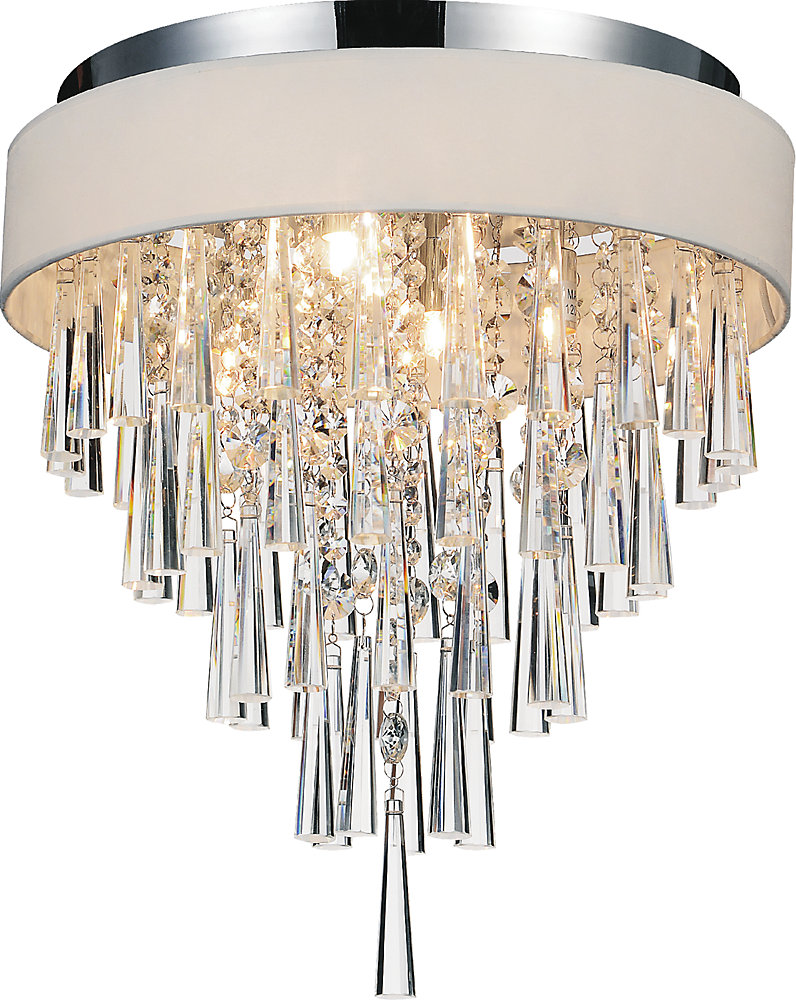Franca 16 inches 4 Light Flush Mount with Chrome Finish