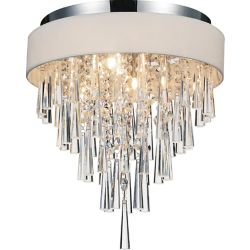 CWI Lighting Franca 16 inches 4 Light Flush Mount with Chrome Finish