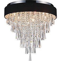 Franca 22 inch Eight Light Flush Mount with Chrome Finish