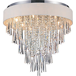 Franca 22 inch 8 Light Flush Mount with Chrome Finish