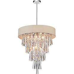 CWI Lighting Franca 16-inch 6 Light Chandelier with Chrome Finish