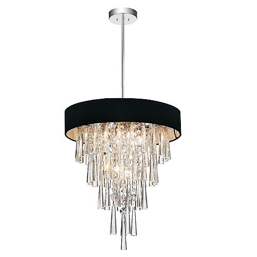 Franca 16 inch Six Light Chandelier with Chrome Finish