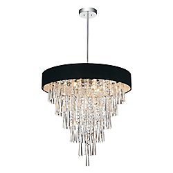CWI Lighting Franca 22 inch Eight Light Chandelier with Chrome Finish
