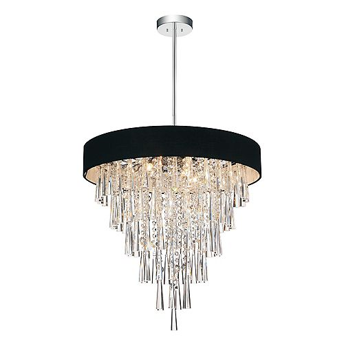 Franca 22 inch Eight Light Chandelier with Chrome Finish