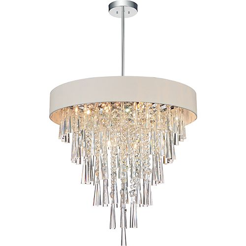 Franca 22 inch 8 Light Chandelier with Chrome Finish