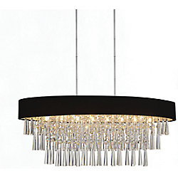 Franca 38 inch Eight Light Chandelier with Chrome Finish