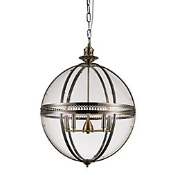 CWI Lighting Lune 24 inch 5 Light Chandelier with Sphere Shape and Bronze Finish