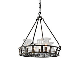 Imperial 32 inch 6 Light Chandelier with Antique Black Finish