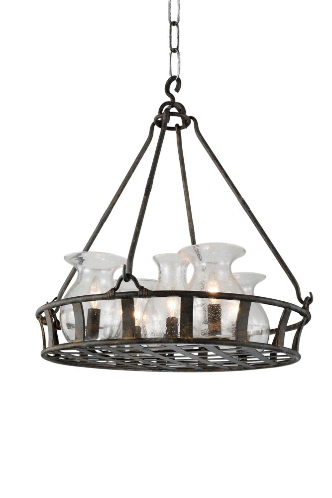 CWI Lighting Imperial 32 inch 6 Light Chandelier with Antique Black Finish