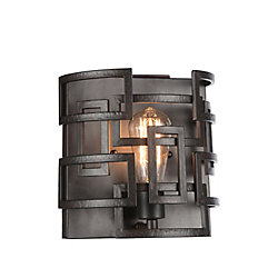 Litani 10 inch 1 Light Wall Sconce with Brown Finish